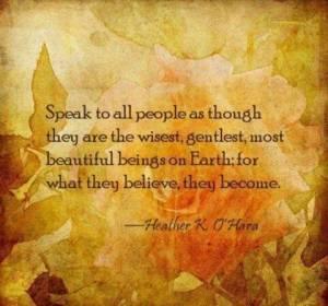 Speak to all people